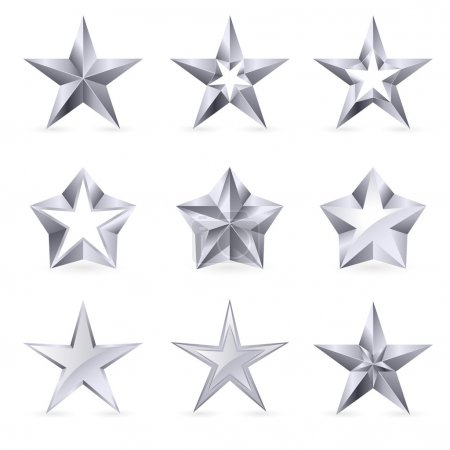 Different types and forms of silver stars