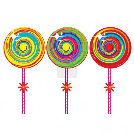 Set of colorful lollipops