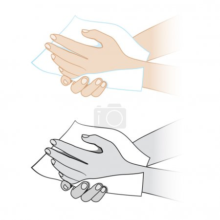 Hands with a napkin