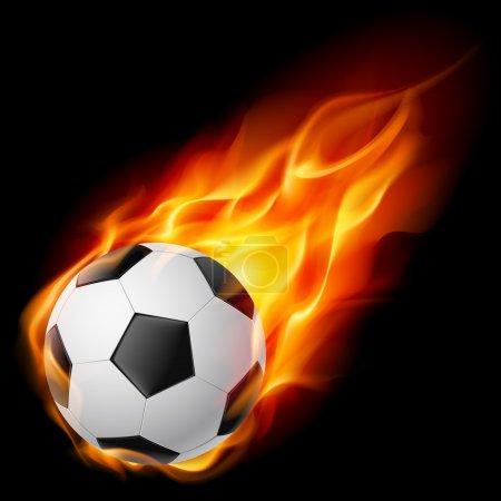 Illustration for Soccer Ball on Fire. Illustration on black background - Royalty Free Image