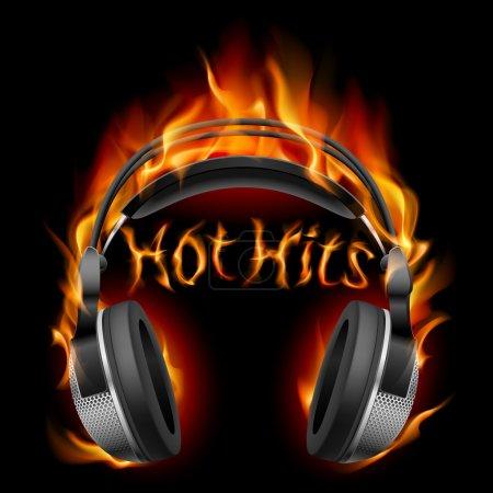Headphones in fire