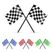 Checkered Flags set illustration on white background for design