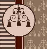 Background with vintage design elemenet