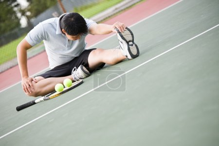 Asian male tennis player