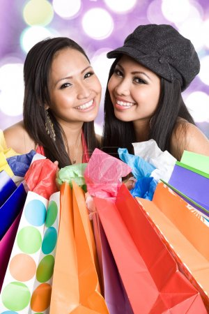 Shopping asian women