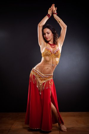 Photo for A portrait of a beautiful belly dancer - Royalty Free Image
