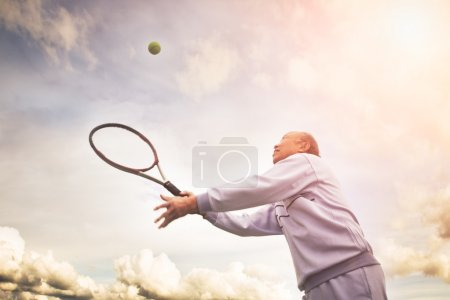 Senior tennis player