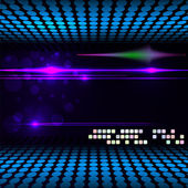Blurry glowing neon circle light effect background