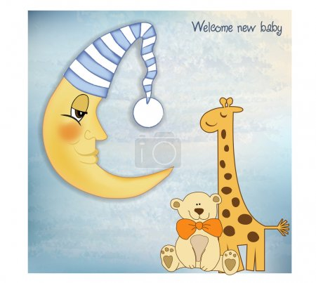 Photo for Welcome baby greetings card - Royalty Free Image