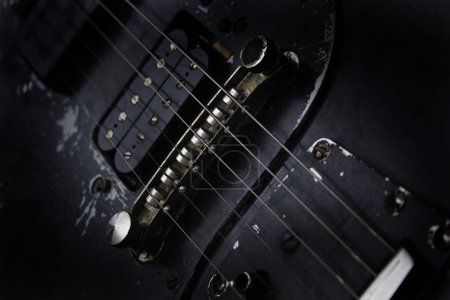 Detail of guitar as very nice musical background