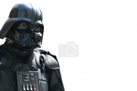 Photo for Man from star wars on white background - Royalty Free Image