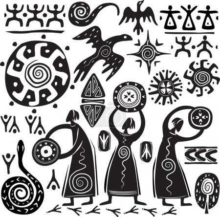 Elements for designing primitive art...