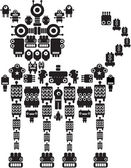 The monster made of small robots - cat
