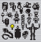 Monsters and robots collection  Vector illustration
