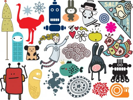 Mix of different vector images. vol.9