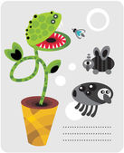 Cute plant monsters and insects