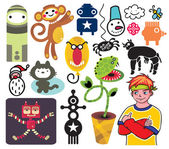 Mix of different vector images and icons vol19