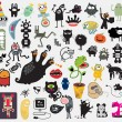 Big set of different cute monsters. Vector icons f...