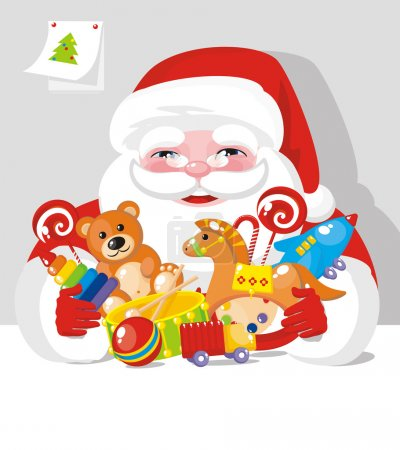 Santa Claus with children gifts