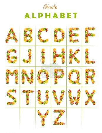 alphabet fruits