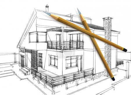 3D pencils and sketch