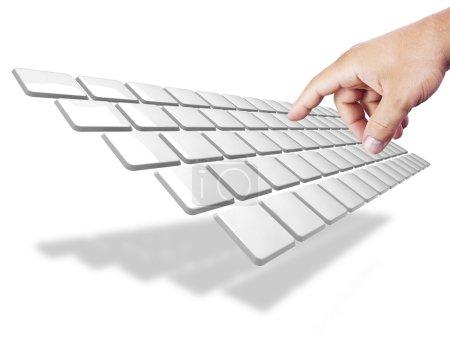 Photo pour Le style d'un clavier stylisé - image libre de droit