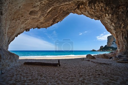 Photo for Cave paradise blue sea and sky relaxation paradise on beach tourism tropical island - Royalty Free Image