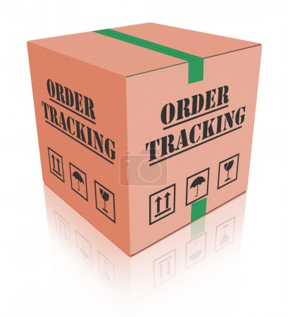 Delivery order tracking carboard box package