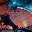 Research telescope pointing at the sky ready for o...