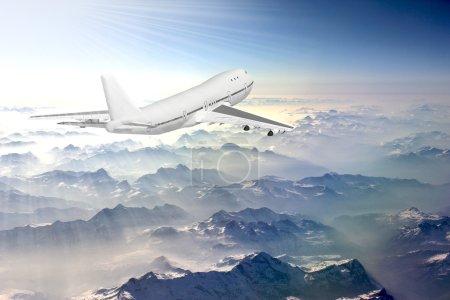 Boeing 747 in sky