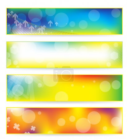 Photo for Abstract colorful banner set over white - Royalty Free Image