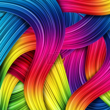 Photo for 3d colorful abstract background design - Royalty Free Image