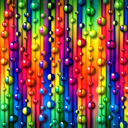 Photo for Colorful stripes and bubbles abstract background - Royalty Free Image