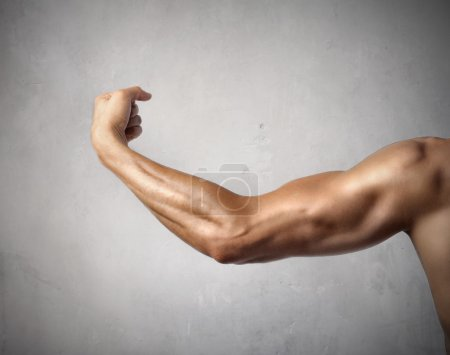 Photo for Closeup of a muscular man's arm - Royalty Free Image