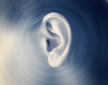 Photo for Closeup of a man's ear - Royalty Free Image