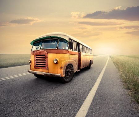Photo for Old coach on a countryside road - Royalty Free Image