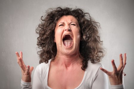 Photo for Very angry woman screaming - Royalty Free Image