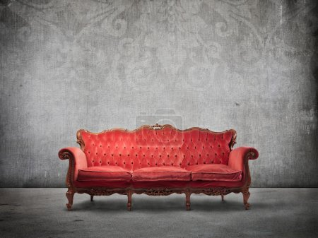 Photo for Old elegant velvet sofa in luxury background - Royalty Free Image