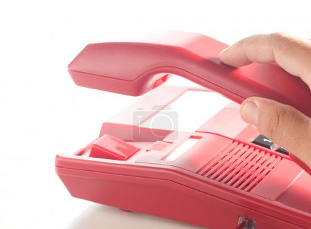 Hang up of the red phone