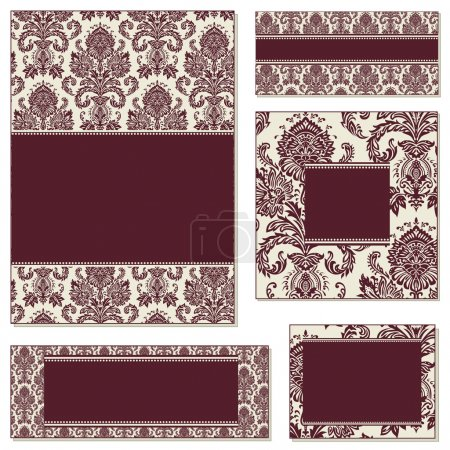 Vector Victorian Frame Set.