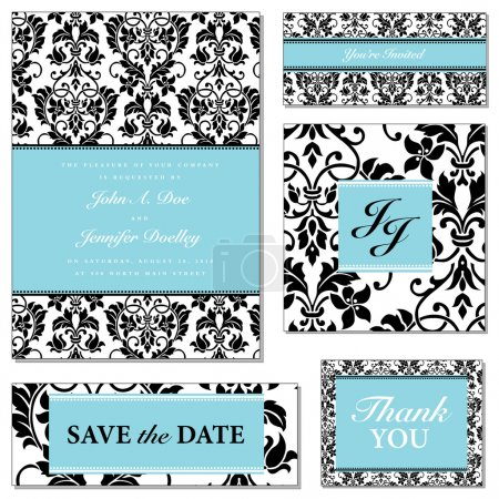 Photo for Vector Pastel Frame Set. Easy to edit. Perfect for invitations or announcements. - Royalty Free Image