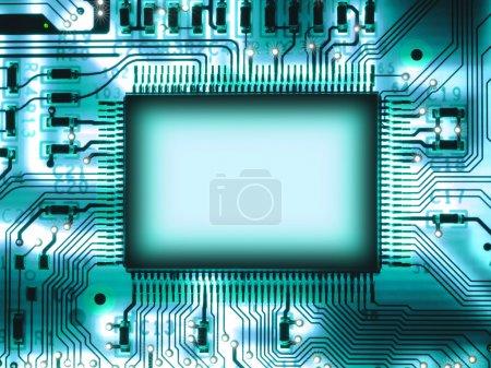Photo pour Puce vierge sur circuit imprimé - image libre de droit