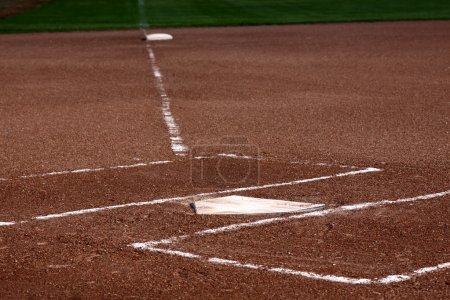 Close-up of Home Plate