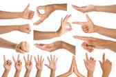 Woman hand gestures
