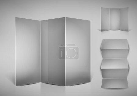 Illustration for Folded blank transparent leaflet for your design, eps10 vector - Royalty Free Image