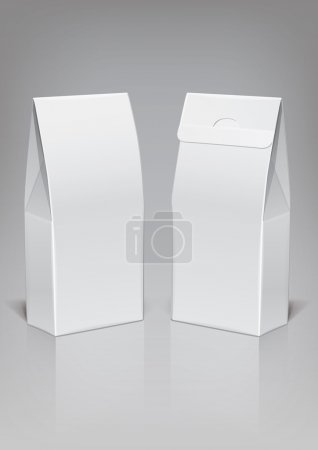 Illustration for Template food cardboard package for new design, vector - Royalty Free Image