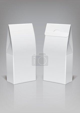 Illustration pour Paquet carton de nourriture de modèle pour la nouvelle conception, vector - image libre de droit
