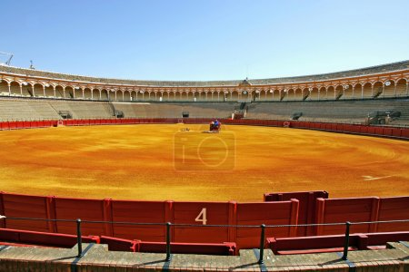 Number 4 gate at large bullring in Seville Spain