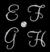 Graceful diamond alphabetic letters Vector set 2