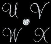 Graceful diamond alphabetic letters Vector set 6